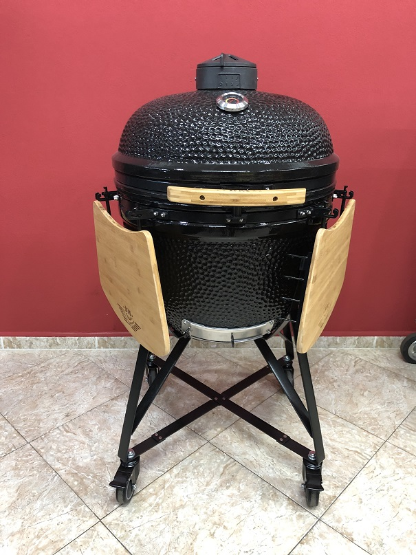 BM-25″   Ceramic Kamado Grill/Smoker (Black)
