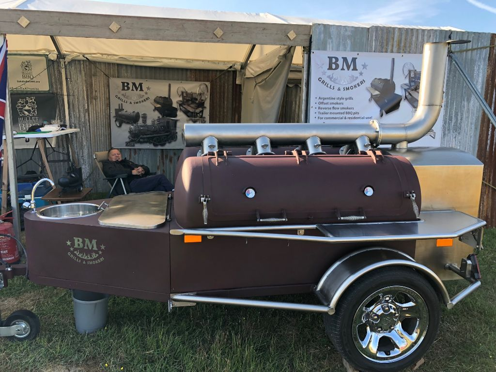 BM-7 dual chamber competition bbq trailer (used)