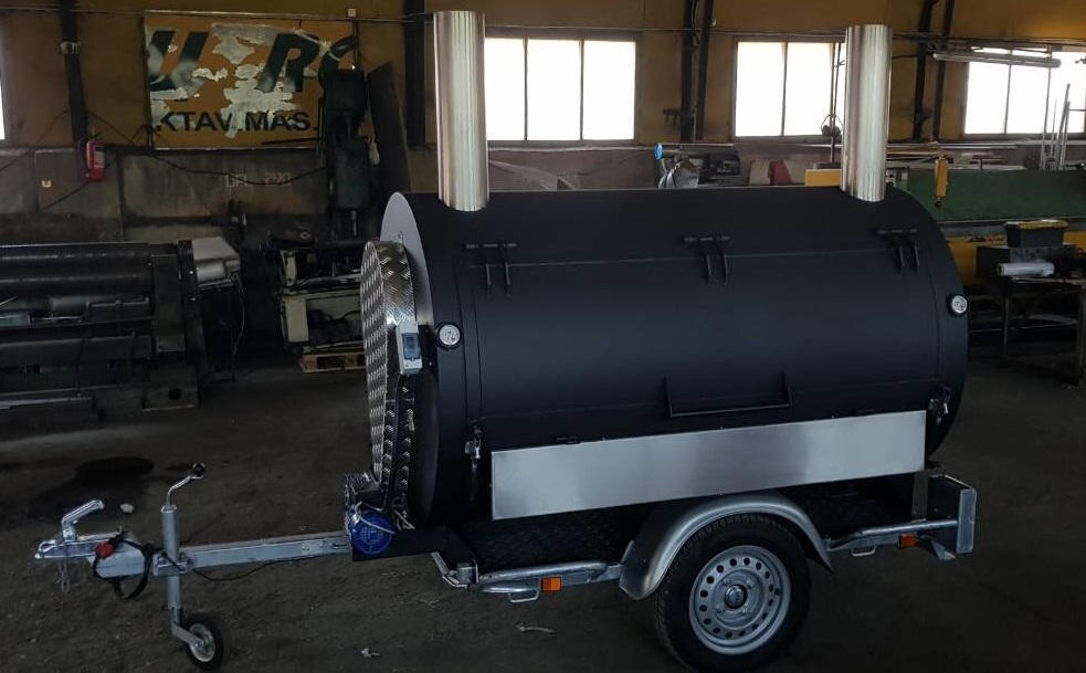 BM-3 Rotisserie Smoker/Cooker Trailer
