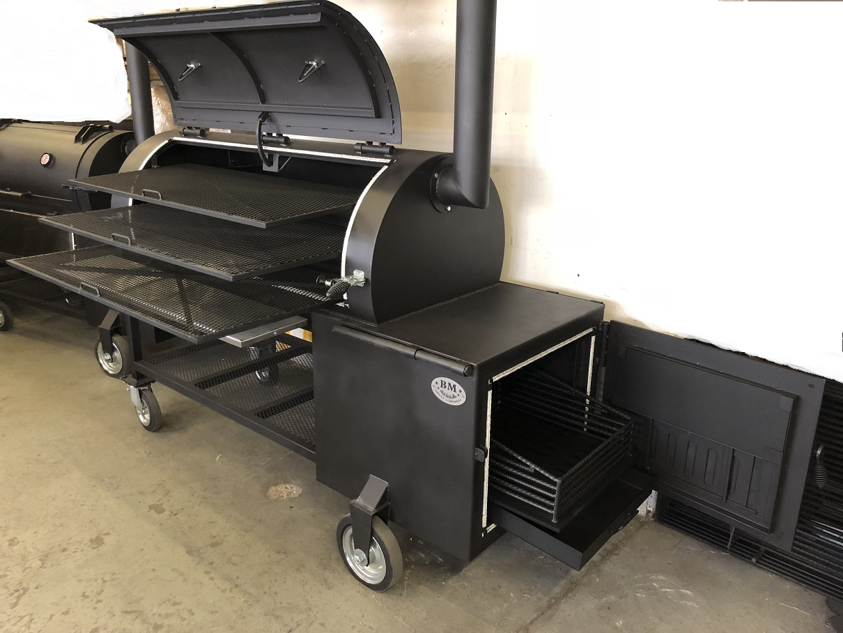 """BM S-5""  reverse flow offset smoker"