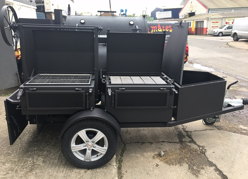 """BM-5""  Fully Loaded BBQ Trailer"