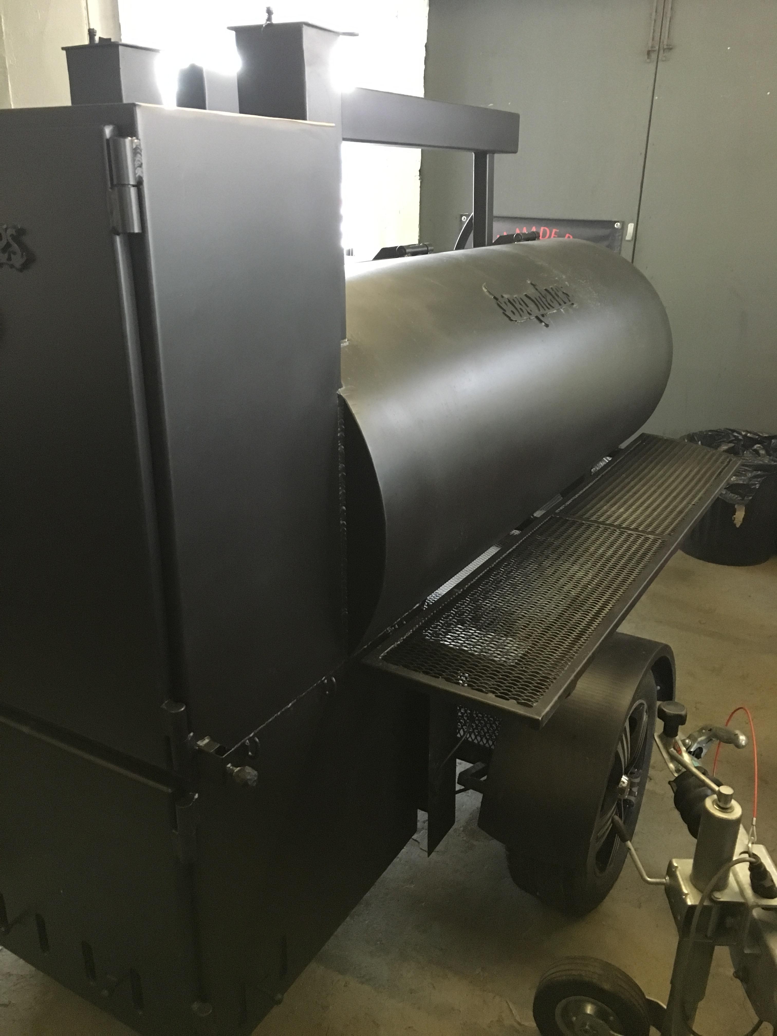 BM-2  Reverse Flow Large BBQ Trailer