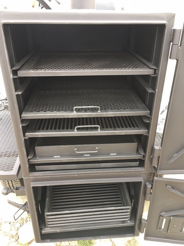 """BM-1""  Reverse Flow Medium BBQ Trailer"